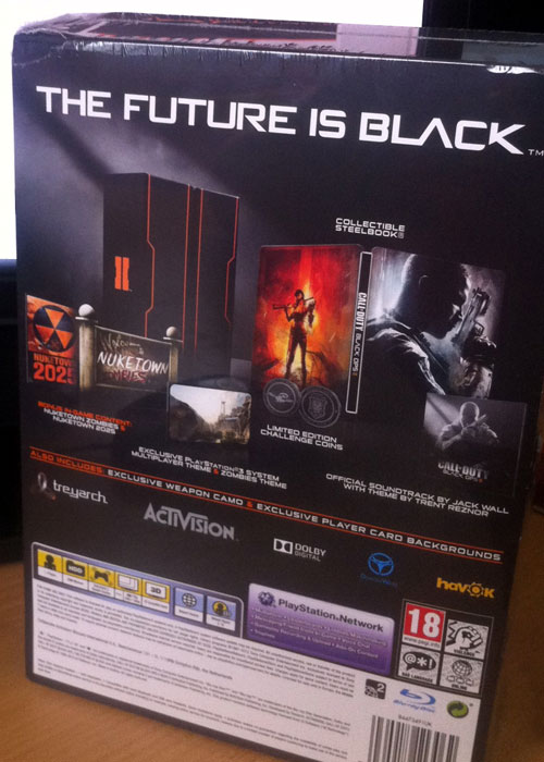 Black Ops 2 PS3 Hardened Edition Back
